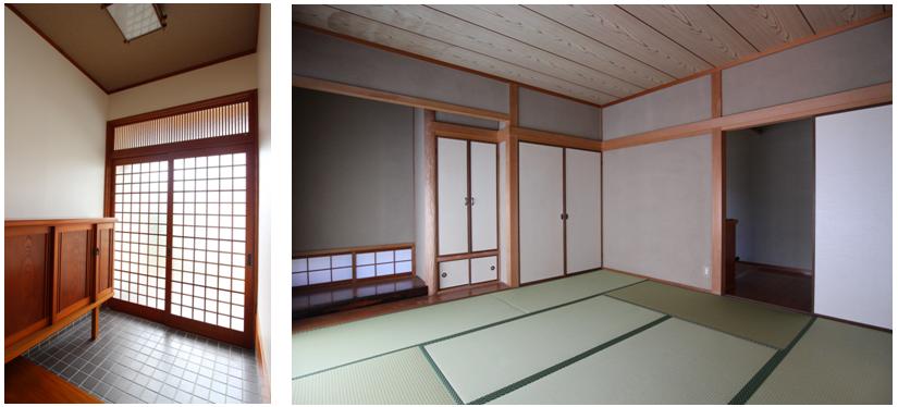 玄関、和室8帖/とてもきれいな状態です。
