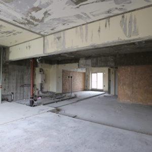 解体後の室内